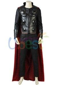 Image 3 - Nouveau déguisement de Cosplay Avengers Infinity War Thor avec cape tenue de super héros dhalloween pour hommes adultes