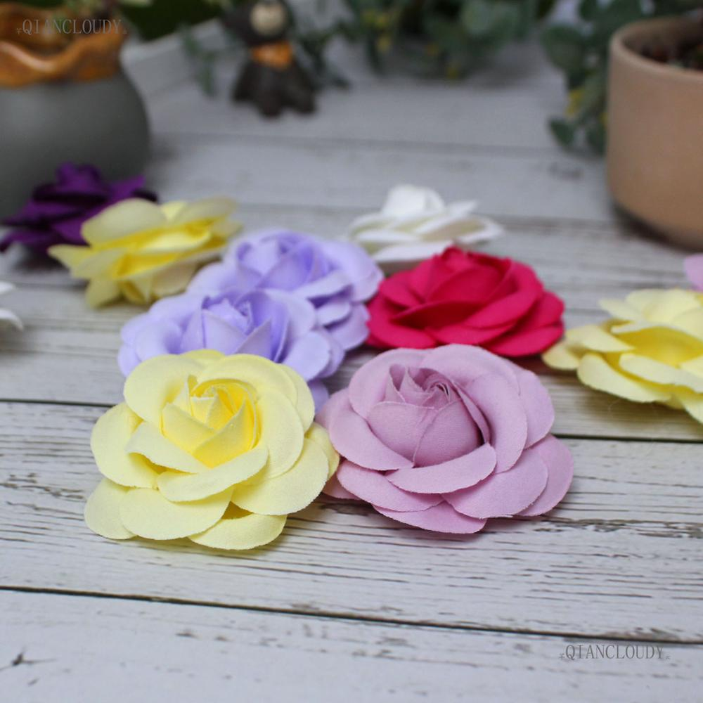 100 Pieces Artificial Camellia Rose Silk Flower Heads Diy Wedding