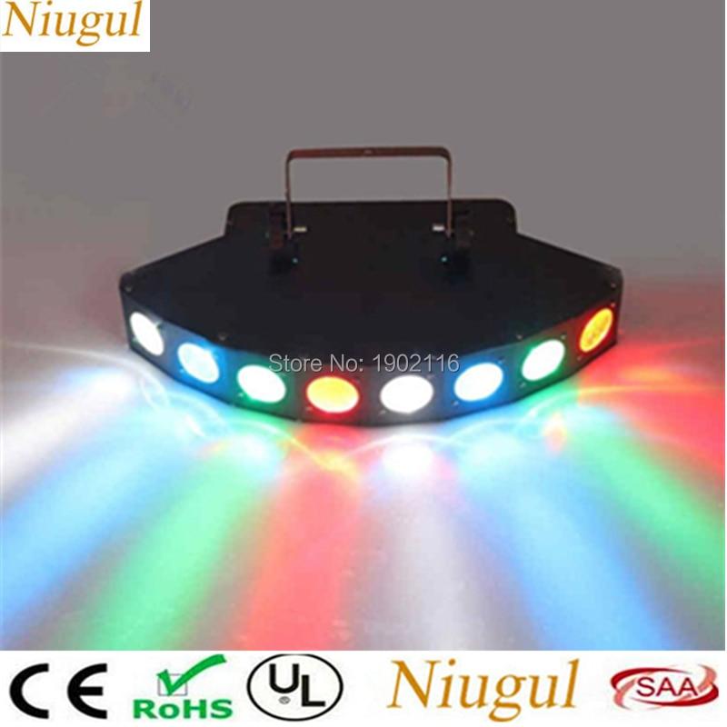 RGBW Eight Eyes Scanner Mini LED Spider Light Full Color LED Scan Stage Beam Effect Lighting