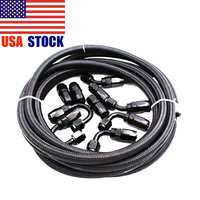 5M AN8 Nylon Stainless Steel Braided Fuel Direct Head 0/45/90/180 Degree Hose End Fuel Adapter Kit Oil Joint Car Auto Parts