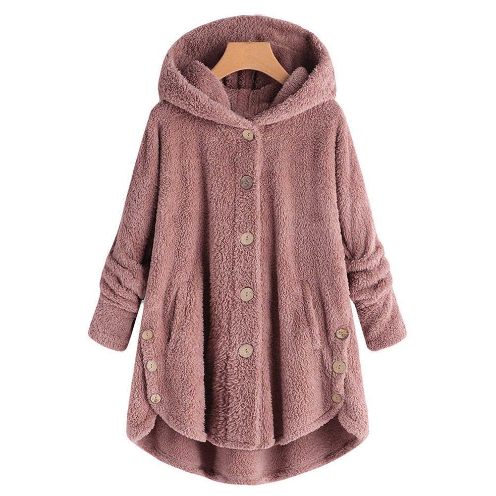 2018 mujeres 4Xl Plus tamaño de abrigo de piel de invierno cálido chaqueta  femenina de manga ec0c054344ae