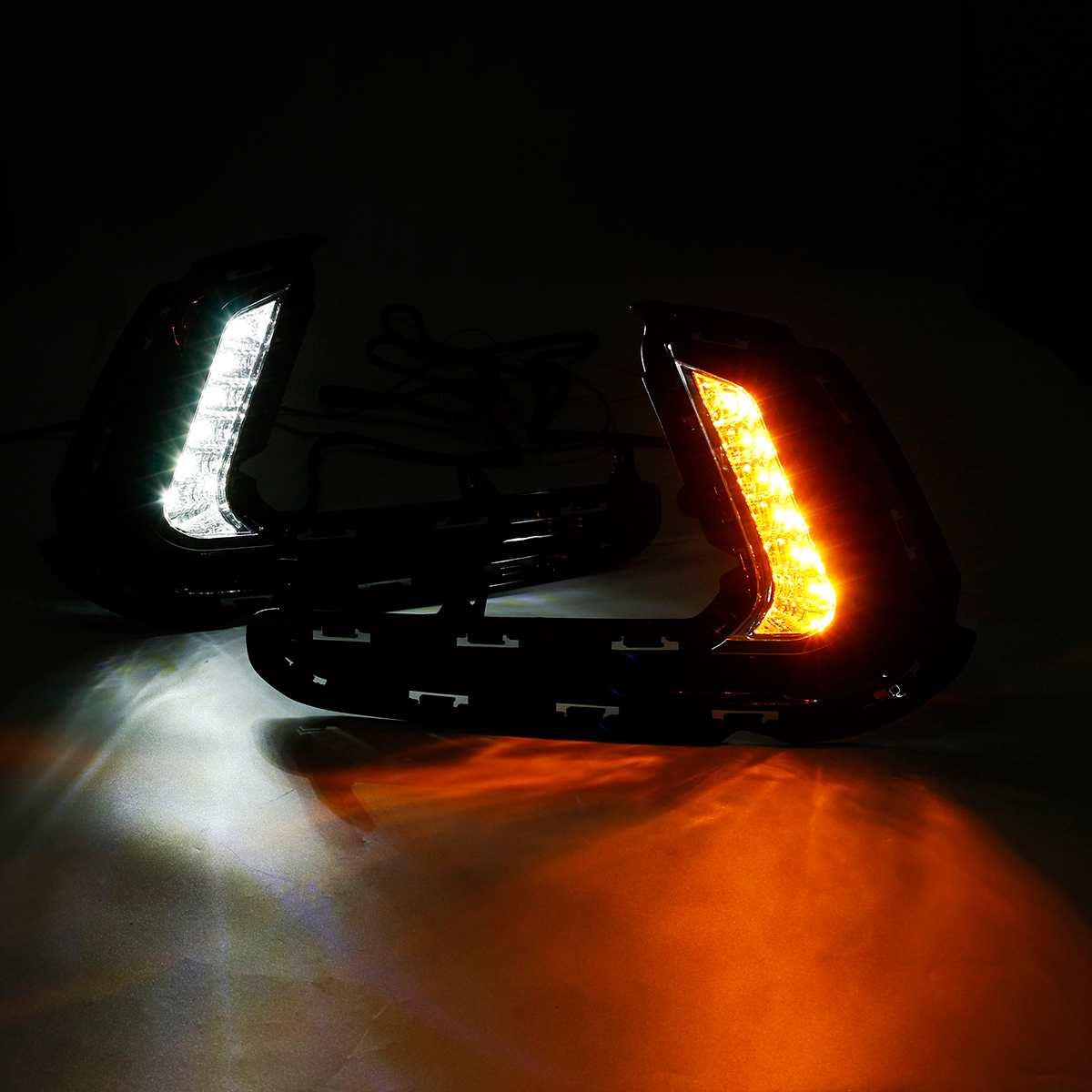 1 Pair LED Car Daytime Running Light DRL Front Bumper Fog Turn Signal Lamp for Hyundai Elantra 2017 2018 Car Styling With Wire1 Pair LED Car Daytime Running Light DRL Front Bumper Fog Turn Signal Lamp for Hyundai Elantra 2017 2018 Car Styling With Wire