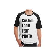 Индивидуальные мужские футболки печать логотипа/текст/фото повседневные