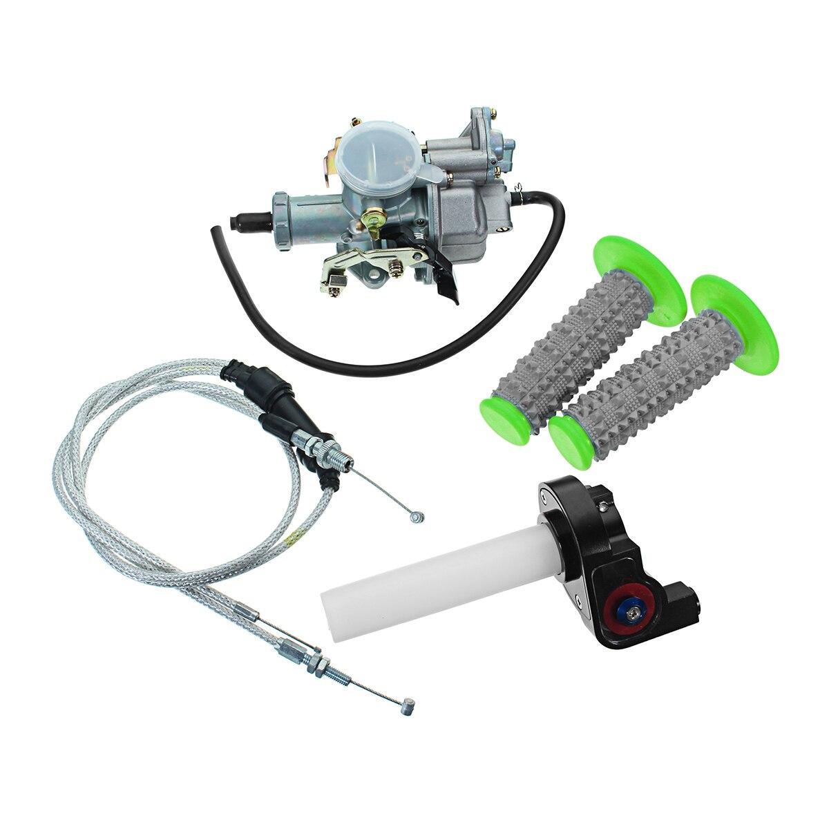 1 Kit d'alimentation en carburant pour moto 30mm carburateur + twister Visiable + câble + poignées pour Motocross moto 200cc 250cc