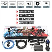 Pandora 6s коробка 1388 в 1 Ретро видеоигры двойные палочки игровой автомат световая консоль двойные палочки Тумба для телевизора Fighter EU Plug новый