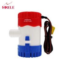 Купить с кэшбэком Hot Sale Bilge Pump 12V 24V New Style 1100GPH 750GPH 500GPH 350GPH Novel Appearance High Flow Submersible