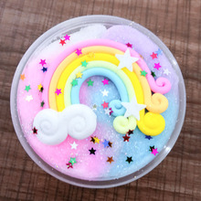 FENGYUNLE Rainbow Wire Drawing Mud Slime Snow Thousand Silk Decompression Plasticine Toys