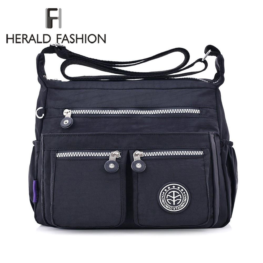 Herald Fashion Women Messenger Bags Nylon Female Shoulder Bags Handbags Famous Brands Designer Ladies' Crossbody Bags Bolsa Sac