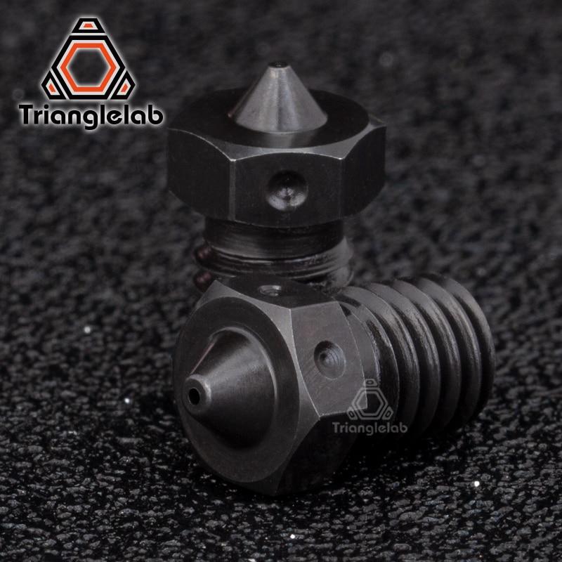 Trianglelab 1 pcs Top Quality A2 PEEK PEI V6 Bicos para impressão de Aço Endurecido ou filamento de fibra de Carbono para E3D HOTEND