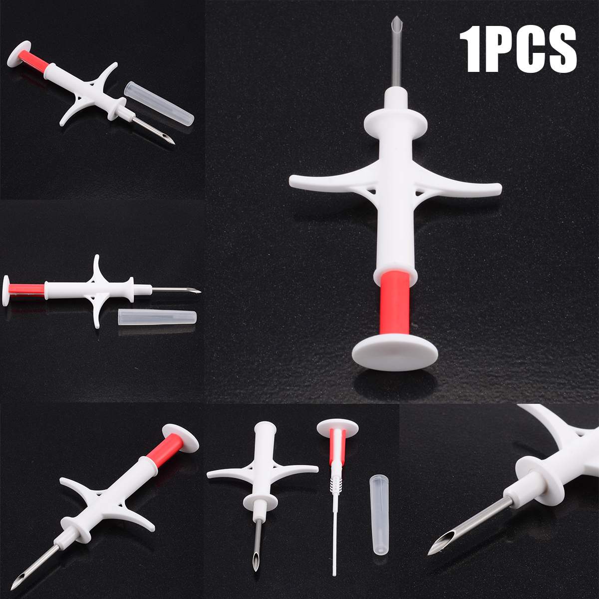 1PC Animal Pet Chip Microchip Syringe Microchip RFID Injector ISO Standard For Dog Cat Mouse Horses