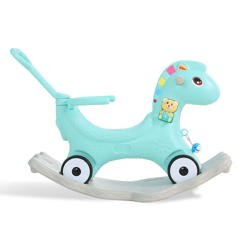 1 2 Year Old Children Rocking Horse Toy Baby Wooden Horse