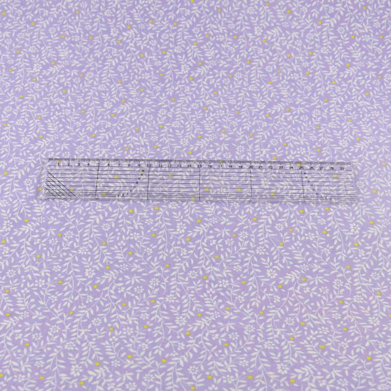 Fioletowy liść tkanina bawełniana tekstylia domowe Patchwork pikowania pościel dekoracja Teramila tkaniny Tecido tkaniny do szycia Craft