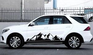Image 4 - 2x Black Snow Mountain decal Vinyl Sticker for Off Road Camper Van Motorhome