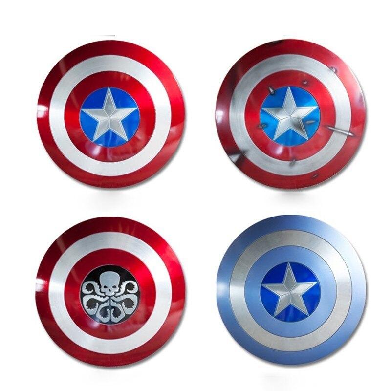 Periferia do Filme Avengers marvel legends Sh65 1/1 Figura de Ação Nova Versão DANOS de BATALHA Escudo Capitão América Metal de Alumínio