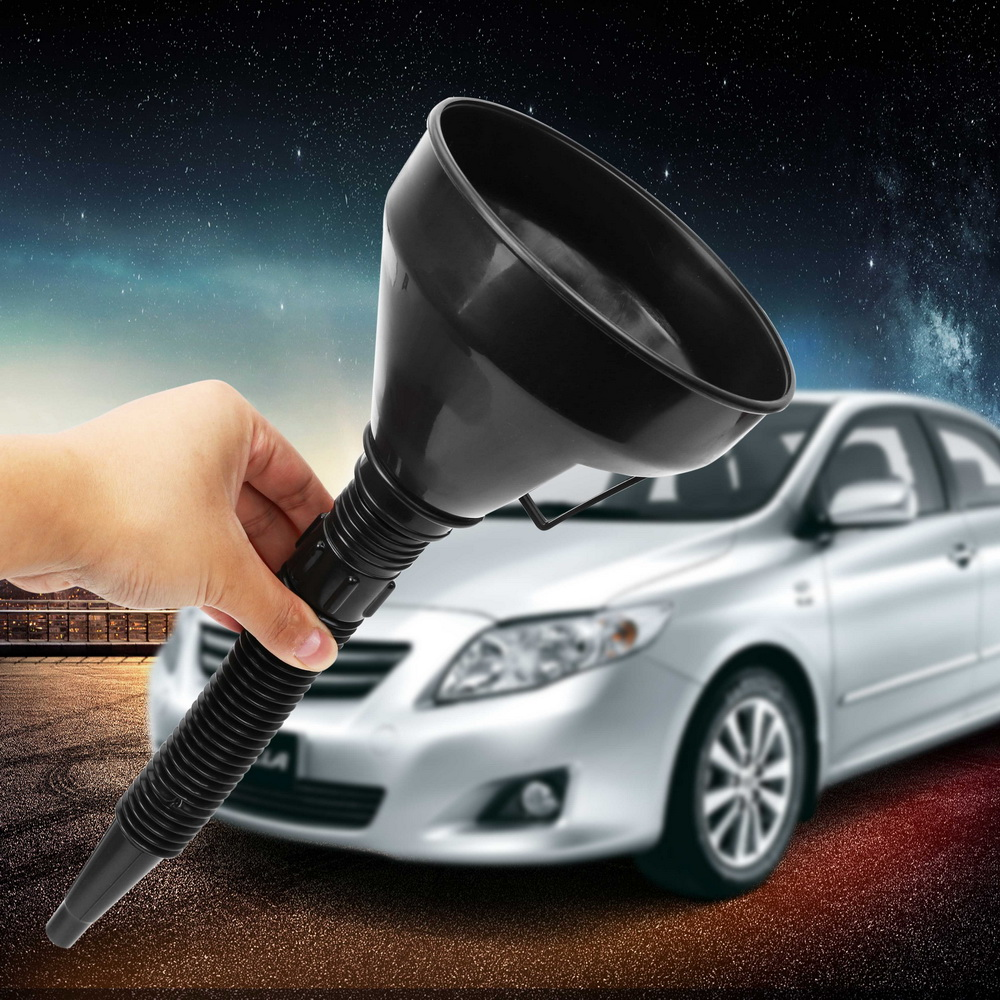 Water Tank Funnel Auto Accessories Fuel Gasoline Petrol Diesel Funnel For Motorbike Auto Car ABS Light Weight