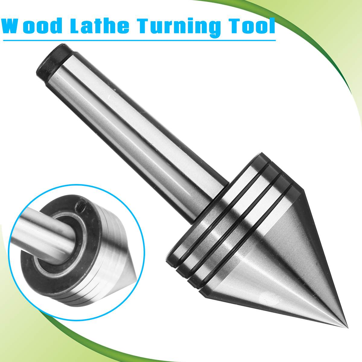 For CNC Cutter Lathe Tool MT2 Live Center Morse Taper Bearing Tailstock Center 0.001mm 60 Degree For Metal Wood Lathe Turning