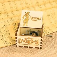 Винтажная резная деревянная ручка музыкальная шкатулка ТВ сериал тема кино музыка День рождения фестиваль праздник подарок