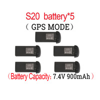 Original S20W GPS RC Drone 7.4V 900mAh Lipo Battery For S20 RC Quadcopter Spare Parts Accessories Rechargeable Battery