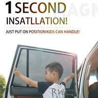 For AUDI A1&A3 Hatchback&A3 Sedan A4&A4 Avant&A4L&A6L&Q2&Q3&Q7&Q5L Car Curtain Black Car Side Window SunShades Mesh Shade Blind