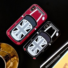 Retro Car TPU Case for iPhone 7 Plus 3D MiNi Car Shockproof with IMD special efficacy Case Cover on for iPhone X XR 6 6S 8 Plus imd gel tpu skin for iphone 6s plus 6 plus pretty flowers and butterflies
