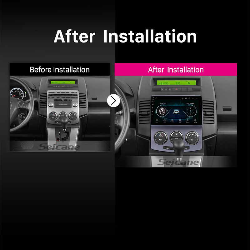 "Seicane 2Din GPS رئيس وحدة الروبوت 8.1 9 ""راديو السيارة ل 2005-2010 القديم مازدا 5 مشغل وسائط متعددة دعم wifi OBD2 DAB + كاميرا"