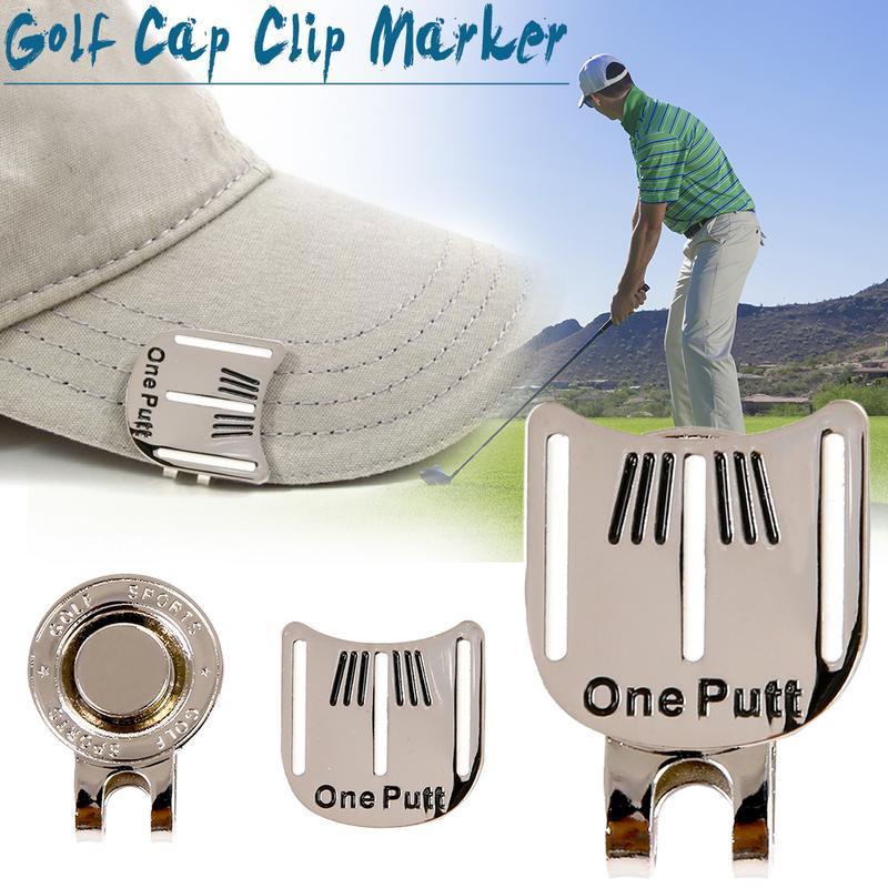 Golf Hat Clip Golf Aiming Mark Golf Cap Golf Ball Aiming Marker Alloy Professional Training Aids Accessories