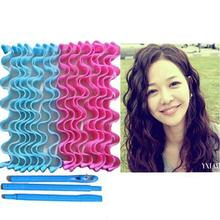 BellyLady 15pcs/set Hair Curlers Rollers Water Ripple DIY Hair Curler Model