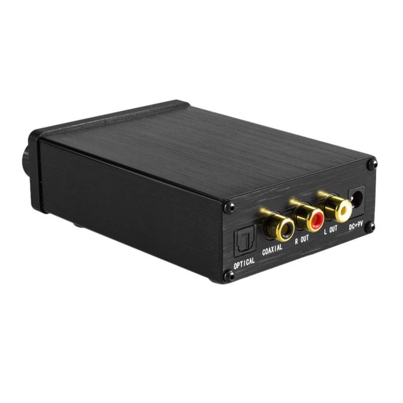 Xu20 Mini Hifi Audio Decoder Amp Support Coaxial Spdif/Optical Input 6.35Mm Earphone Rca Audio Output Amplifier For Tv Dvd(Eu