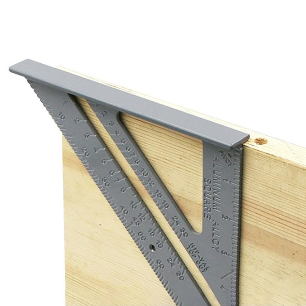 None Triangle Rule 90 Degree Thickening Angle Rule Aluminum Alloy Carpenter Measurement Square Ruler(China)