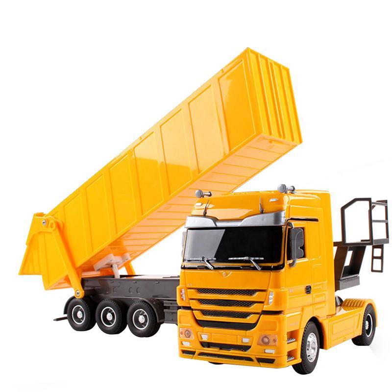 RC camion 1:32 Dumper 10 roues inclinable chariot radiocommande pointe camion Auto ascenseur ingénierie conteneur véhicule électronique passe-temps jouet