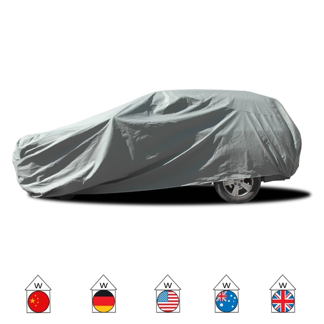 3 Layer SUV Car Cover 100% Waterproof Outdoor Sun UV Rain Dust Resist Protection