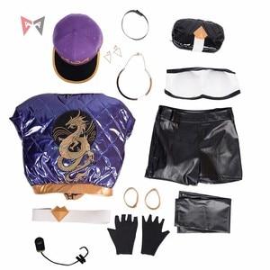 Image 4 - KDA Akaliคอสเพลย์เครื่องแต่งกายLOLเกมKDAผู้หญิงชุดเสื้อกางเกงถุงมือหน้ากากหมวกวิกผมต่างหูใหญ่ชุดmadeขนาด