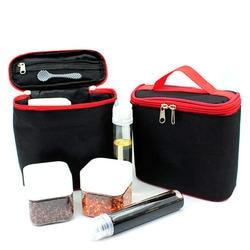 Odkryty Camping pojemnik do przechowywania zastawy stołowej pojemnik słoik na przyprawy pudełko do przypraw przenośna butelka oleju do grillowania piknik odkryty Camping rekwizyty