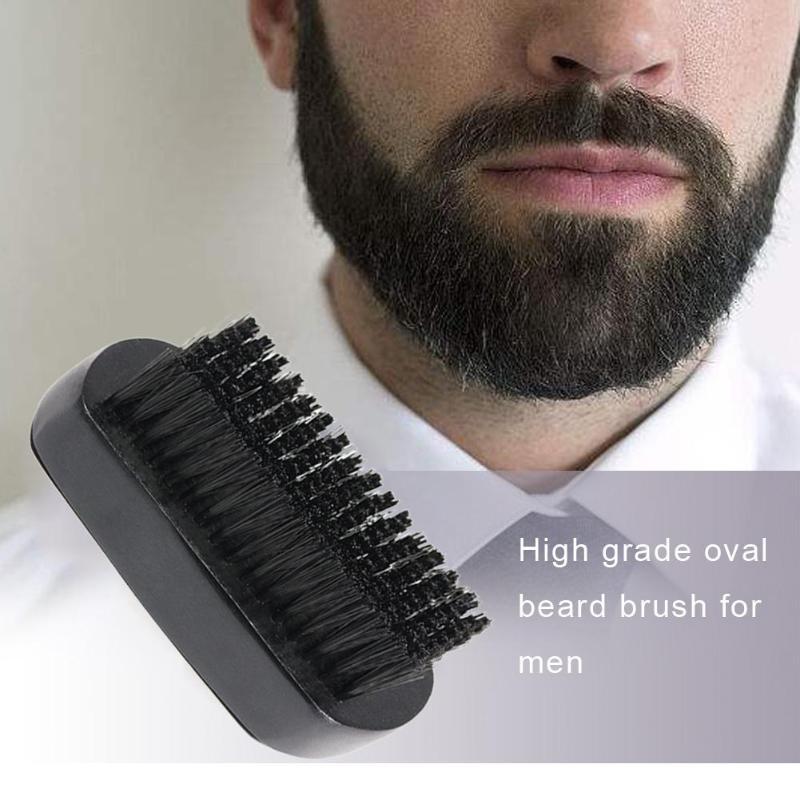Men's Beard Brush Kit Set Boar Bristle Shaving Brush Beard Comb Mustache Scissor Male Facial Beard Claning Tool