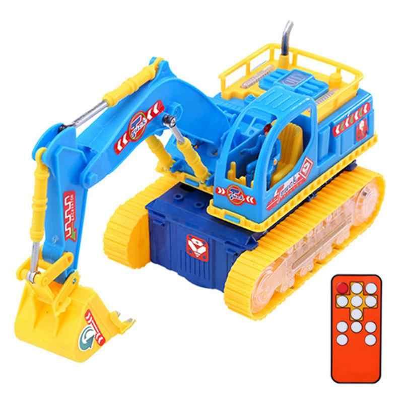 Умный инфракрасный пульт дистанционного управления строительство Трактор Автомобиль модельное освещение Звук экскаватор грузовик игрушка для раннего образования
