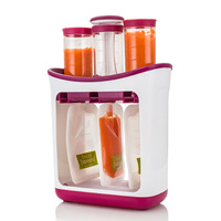 Baby Food Maker Food Squeeze Station Infant Feeding Containers Storage Baby Fruit Puree Packing Machine Toddler Solid Juice Make