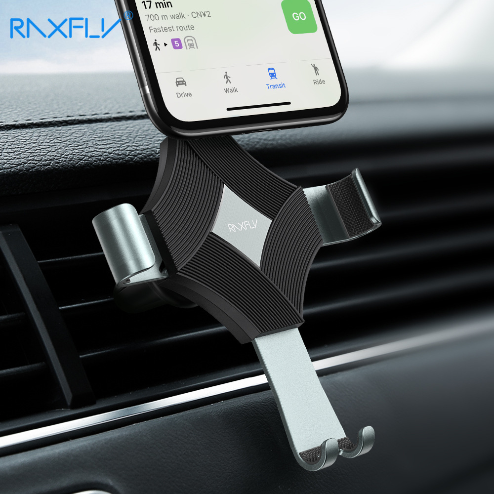 RAXFLY Practicla Car Phone Stand For iPhone X in Air Vent Clip Mount Mobile Holder No Magnetic Cell Support