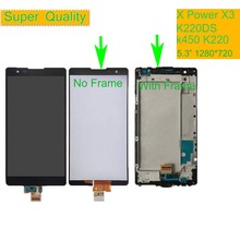 10Pcs/lot For LG X power K220 K220DS F750K F750K LS755 X3 K210 US610 K450 LCD Display Touch Screen Digitizer Assembly with Frame free shipping lcd for lg x power x3 k220ds k220dsk k210 k450 k220 lcd display digitizer touch screen assembly