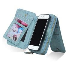 Multi function Wallet Case MEGSHI for Samsung Galaxy S7 S8 S9 S7 edge S8 plus case retro zipper magnetic phone pocket