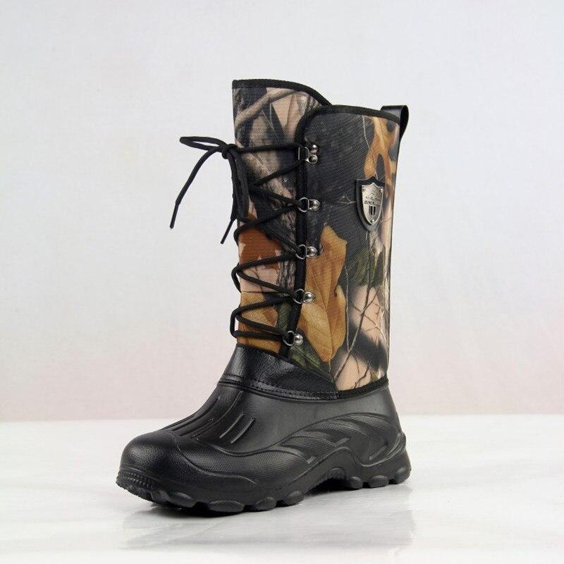 Herren Winter Outdoor Sport Wasserdichte Warme Schnee Stiefel Wandern Jagd Klettern Camping Angeln Ultraleicht Thermische Camo Hohe Schuhe
