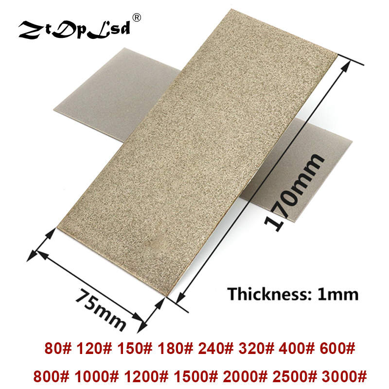 1Pcs 80~3000 Grit Thin Whetstone Knife Polishing Plate Tools Fine Polished Diamond Square Sharpened Grinding Abrasive Stone