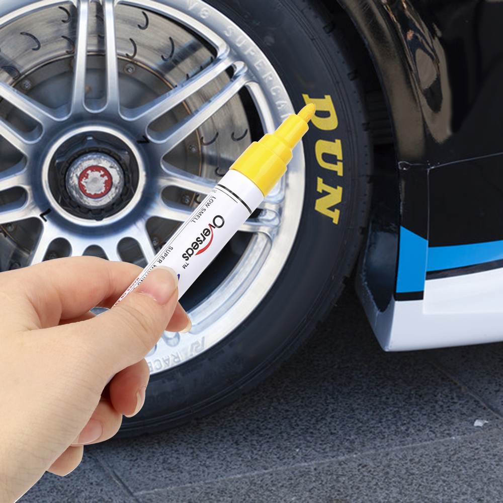 Paint Care Marker Paint Pen For Car Tyre Tire Tread Waterproof Car-styling 6 Colors Universal