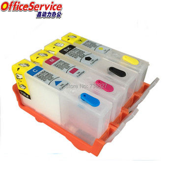 Refillable ink Cartridge For HP655 HP 655, suit for Deskjet Ink Advantage 3525 4615 4625 5525 6520 6525 printer with chip image
