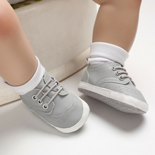 Cute Newborn Kids Baby Boy Girl Canvas Sneakers Shoes Spring Anti-Slip Soft Sole Crib Shoes Infant Bebe Children Casual Shoe цена