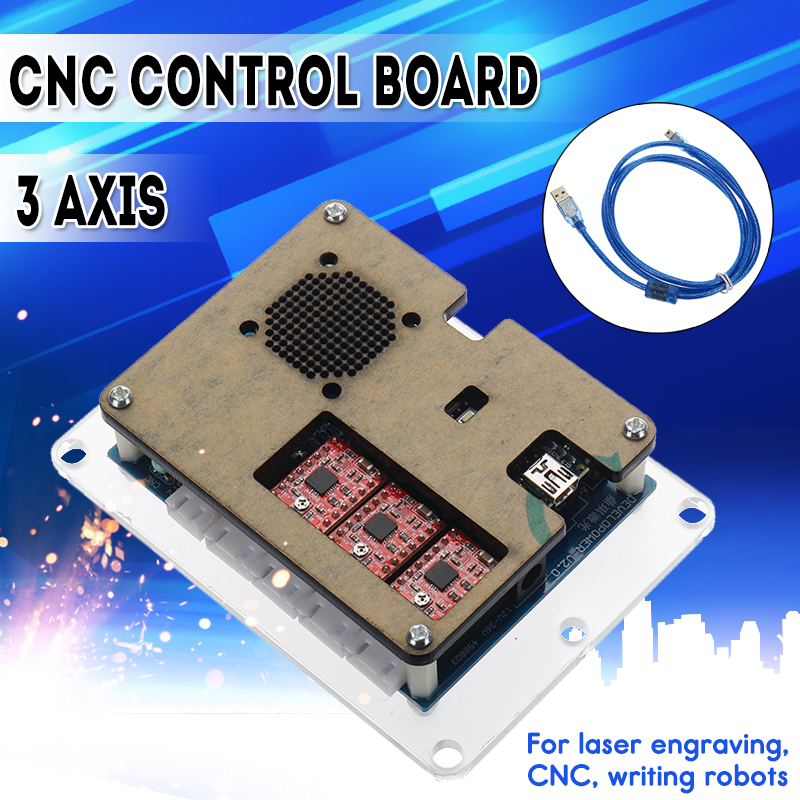 WOLIKE 2018 new GRBL USB Port CNC Laser Engraving Machine Control Board 3 Axis Stepper Motor Driver DIY Controller Board 12V