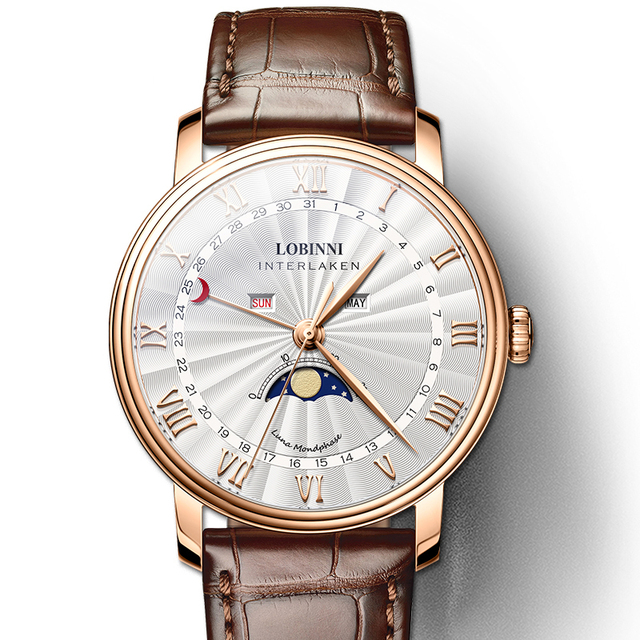 3a30071d7 LOBINNI Men Watches Switzerland Luxury Brand Watch Men Sapphire Waterproof  Moon Phase Reloj Hombre Japan Miyota