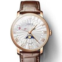 LOBINNI Men Watches Switzerland Luxury Brand Watch Men Sapphire Waterproof Moon Phase reloj hombre Japan Miyota Movement L3603M