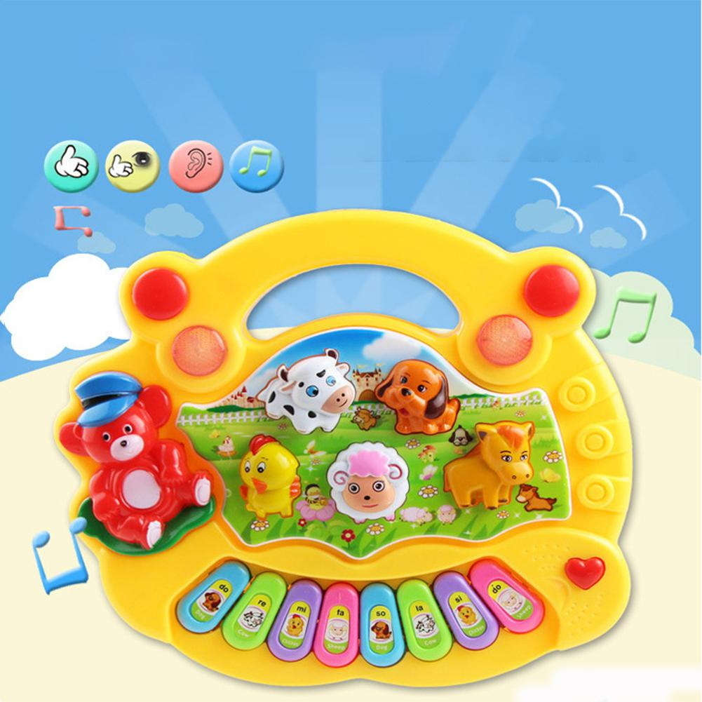 Kids Musical Educational Animal Farm Piano Developmental Music Toy Baby Gifts Developmental Baby Toys