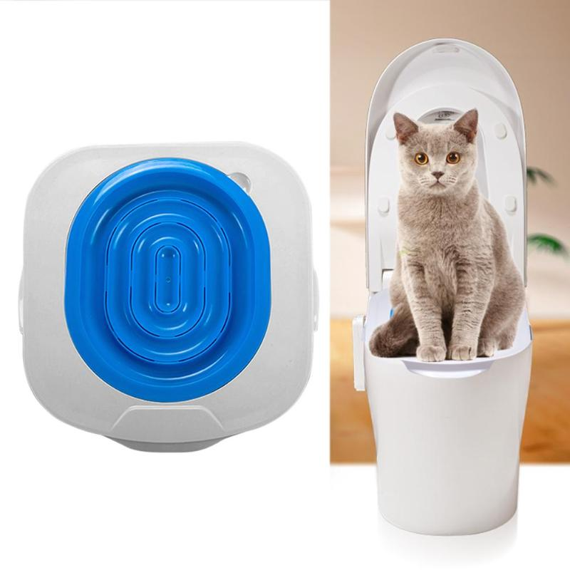 Plastic Cat Toilet Training Kit Litter Tray Box Cat Litter Mat Cat Toilet Trainer Pet Cleaning Supply Training Products