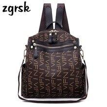 Women Bag Fashion Backpack Female High Quality Pu Women's Leather Backpacks Letter School Bags For Teenage Girls Bagpack Mochila недорого